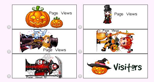 Halloween  Web Page Counters 2