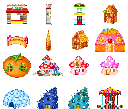 Cartoon World Houses