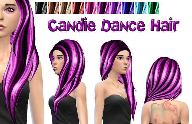 Candie Dance David Hair in 10 recolors