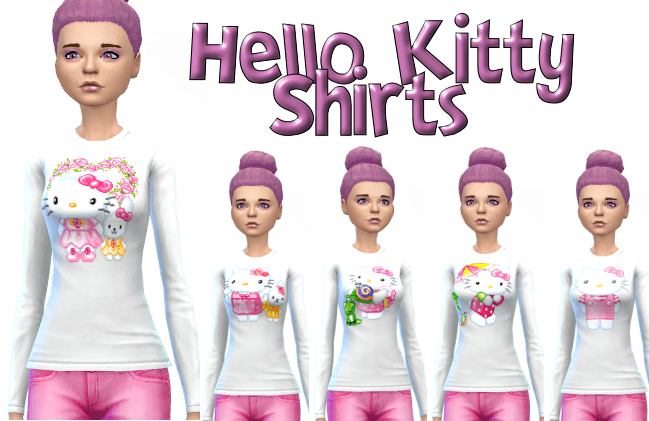 Hello Kitty Shirt Set of 5