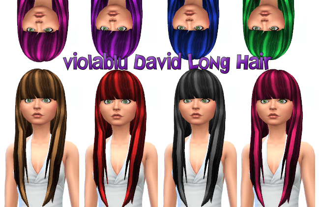 Violablu David's Long Hair recolored