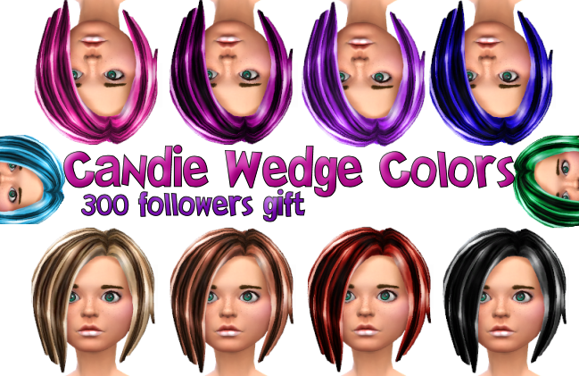Candie Wedge Hair in 10 Colors