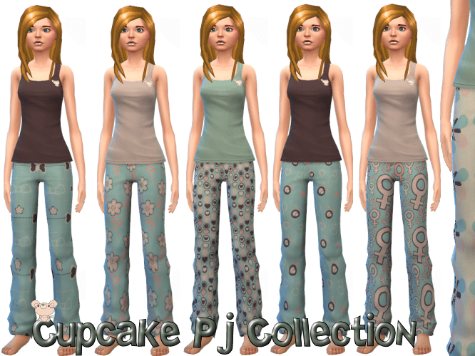 Cupcake Pj Collection 10 Mix and match items ( Sweatpants & Tank Tops)