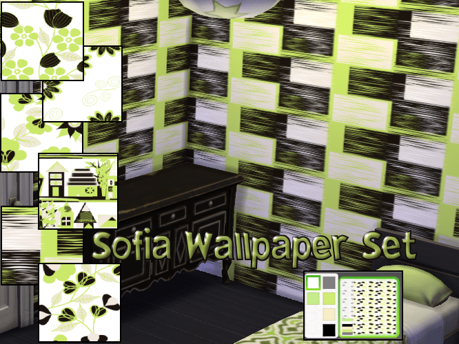 Sofia Wallpaper Set in 6 patterns