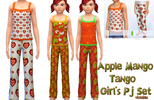Apple Mango Tango Pj Set For Kids