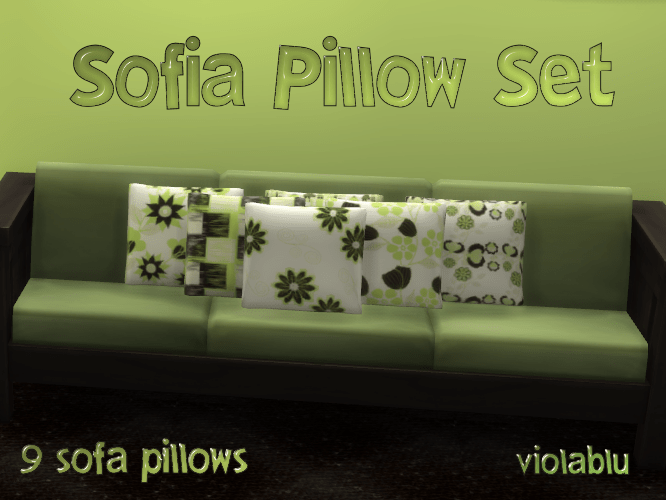 Sofia Sofa Pillow Set of 9