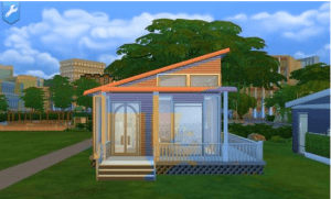 Pink a tiny house for Sims 4