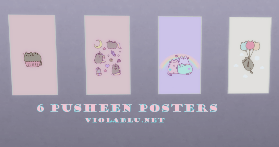 Pusheen Posters for Sims 4