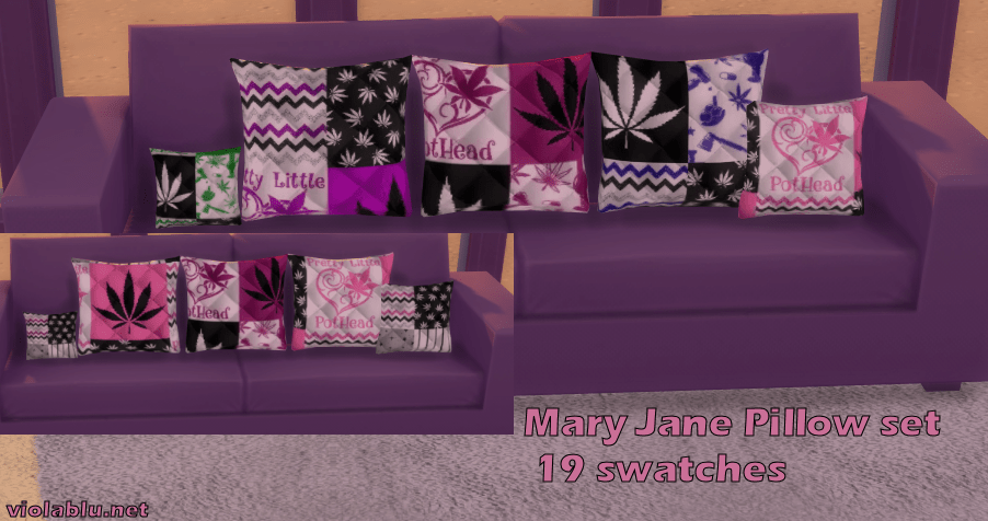 Mary Jane Pillow Set for Sims 4
