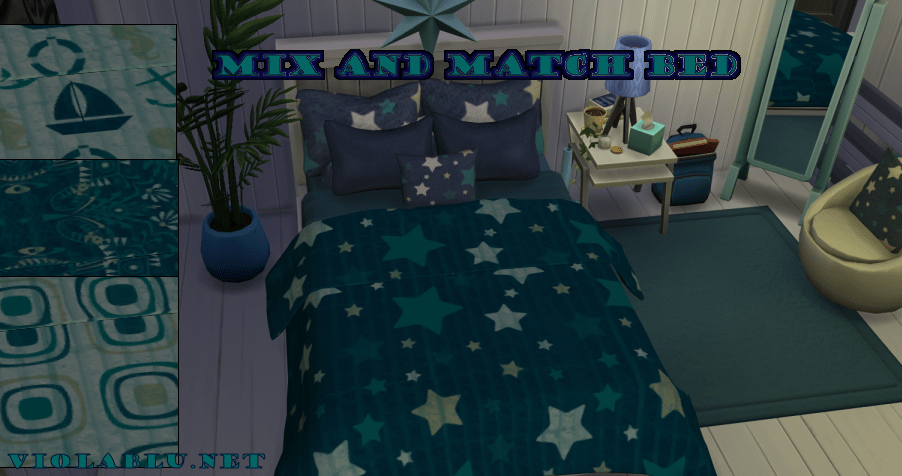 Terra Mix and Match Bed Set for Sims 4