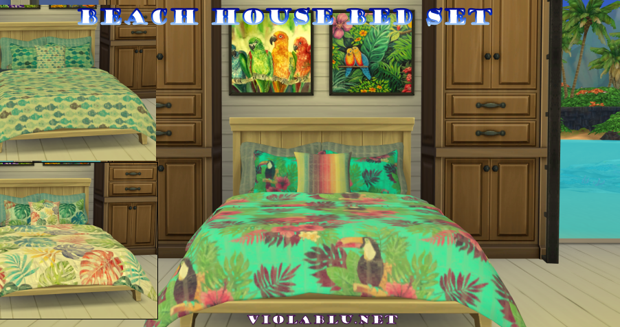 Beach House Mix & Match Bed Set for Sims 4