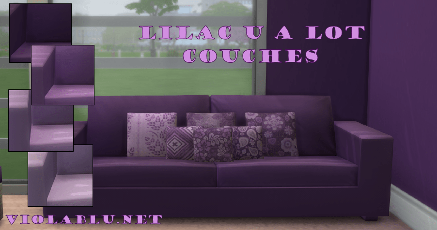 Lilac You A Lot Couch Set
