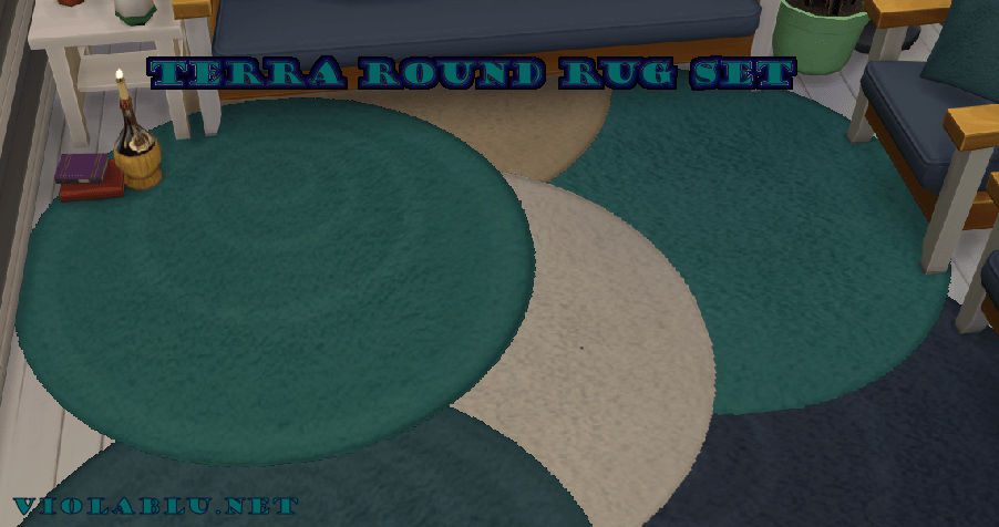 Terra Round Rug Set for Sims 4