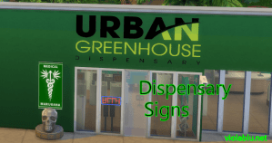 Dispensary Signs for Sims 4