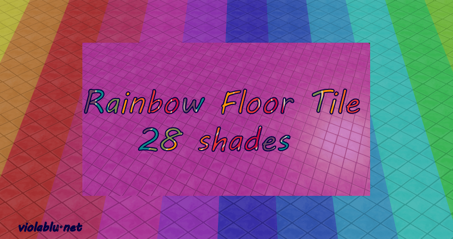 Rainbow Floor Tiles for Sims 4
