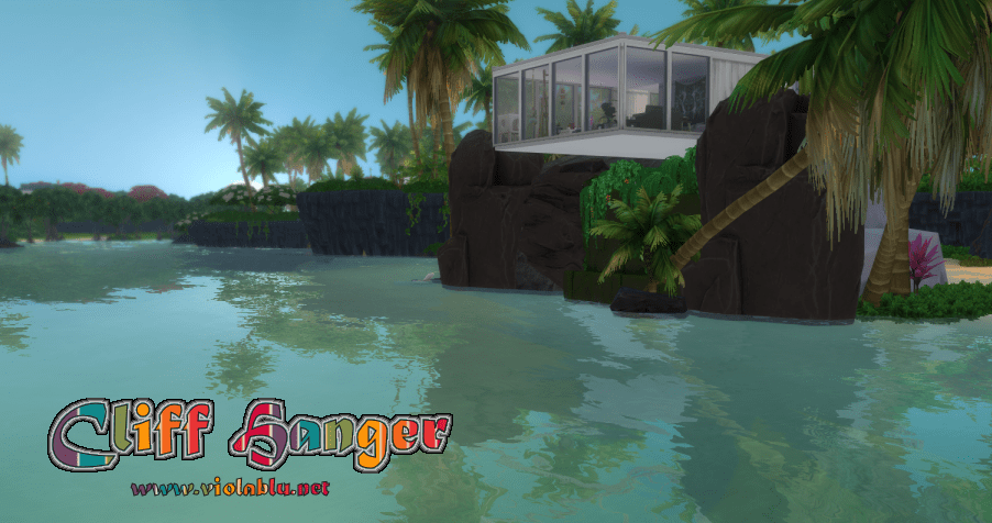 Cliff Hanger House for Sims 4