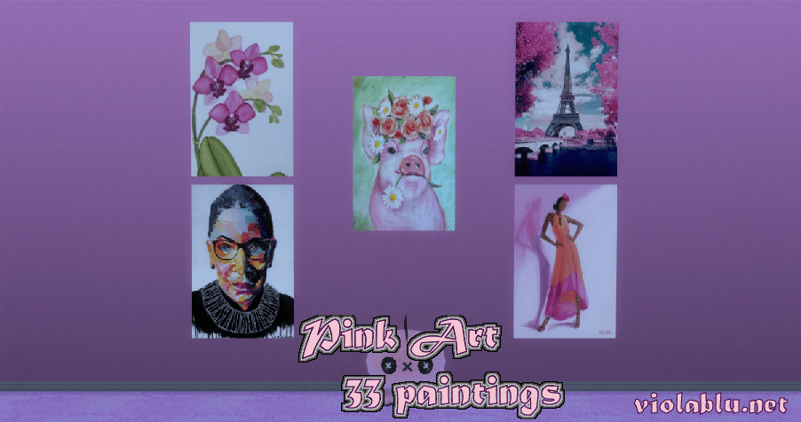 Pink Art for Sims 4