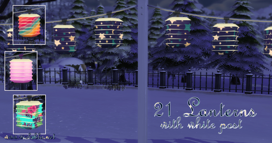 Pretty Lanterns for Sims 4