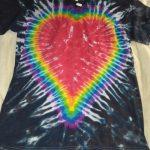 Medium Black Heart Tie Dye