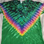 Large Green and Black Tie Dye
