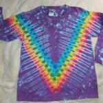 Youth XL Long Sleeve Purple Rainbow Tie Dye