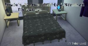 Viola's V Day Knitted Blanket