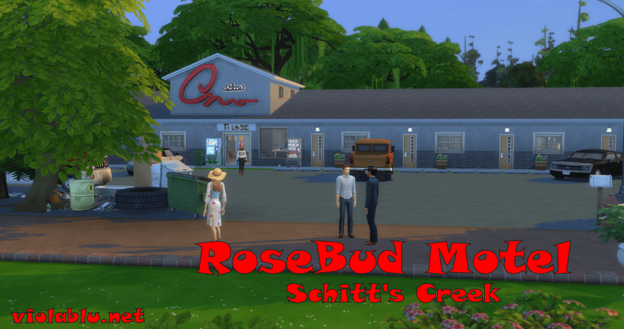 RoseBud Motel Schitt's Creek for The Sims 4