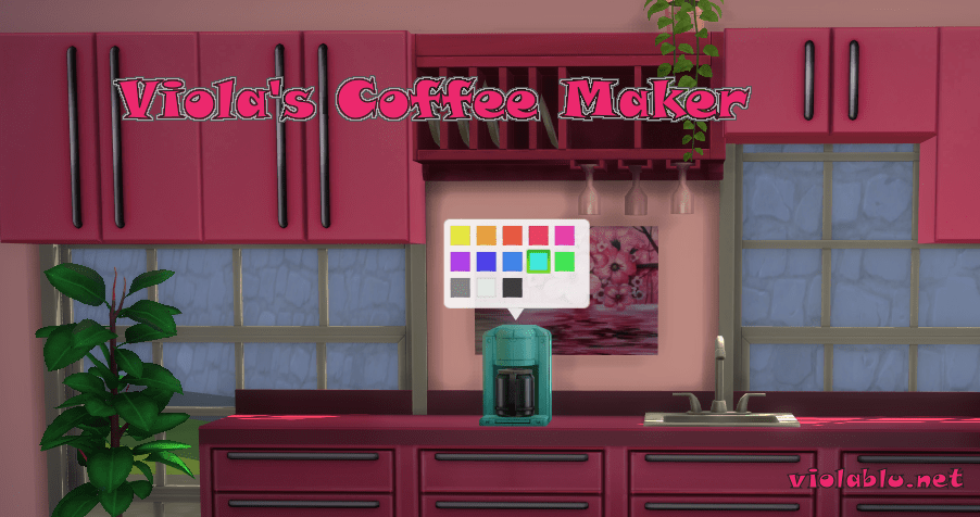 Viola's Coffee Maker for The Sims 4