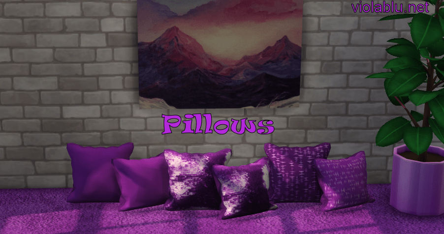 Juniper Pillow Recolors For Sims 4