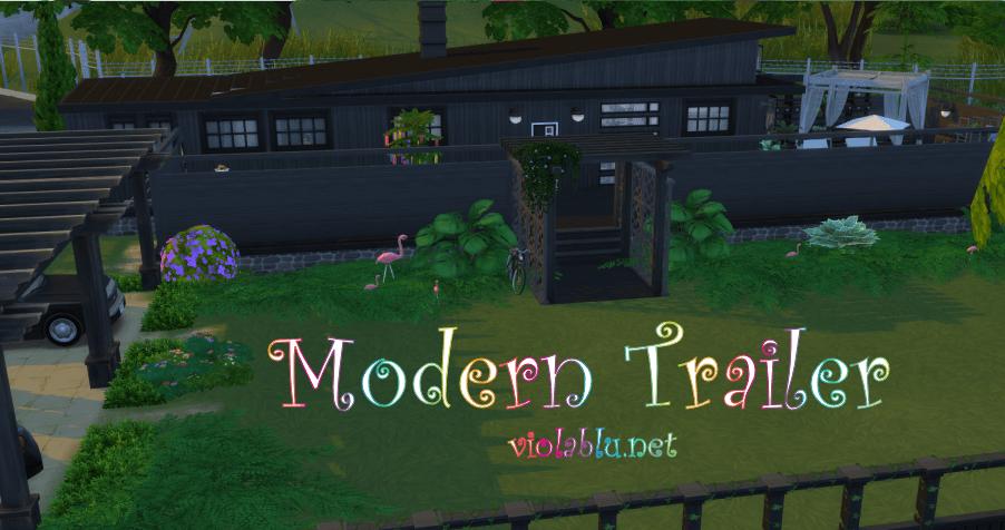 Modern Trailer for Sims 4