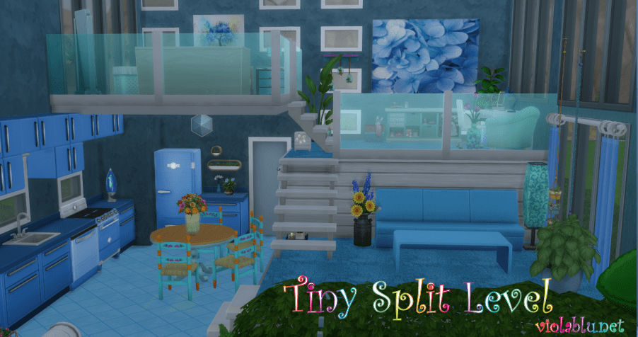 Tiny Split Level for Sims 4