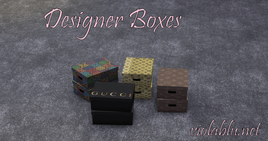 Designer Boxes for Sims 4