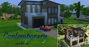 Contemporary Terrace For Sims 4