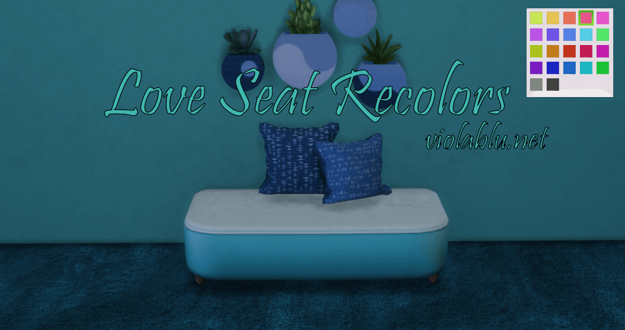 Love Seat Recolors for Sims 4