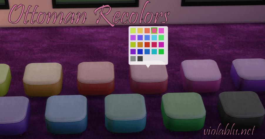 Pretty Ottoman Recolors for Sims 4