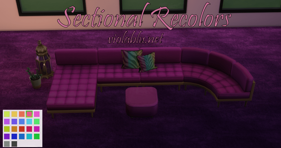 Pretty Sectional Recolors for Sims 4