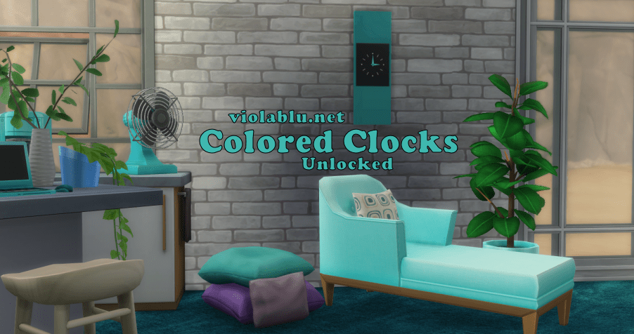 Colored and Unlocked Wall Clocks for Sims 4