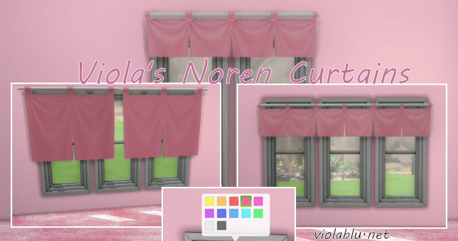 Noren Curtain Recolors for Sims 4