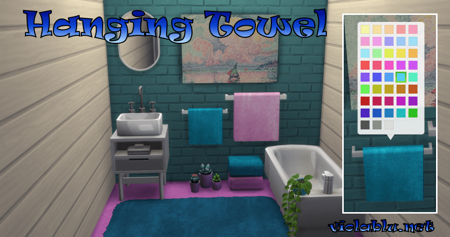 Viola's Plush Hanging Towels for Sims 4