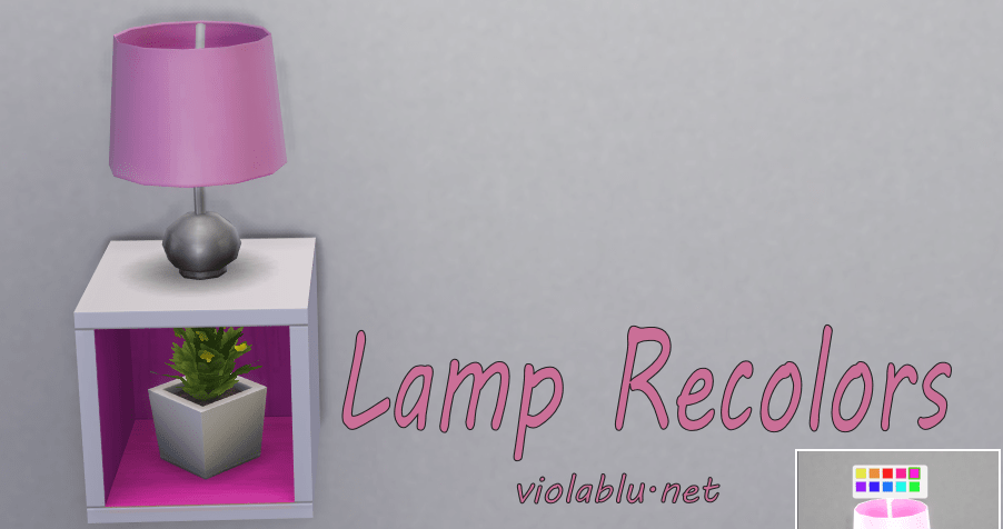 Lamp Recolors for Sims 4