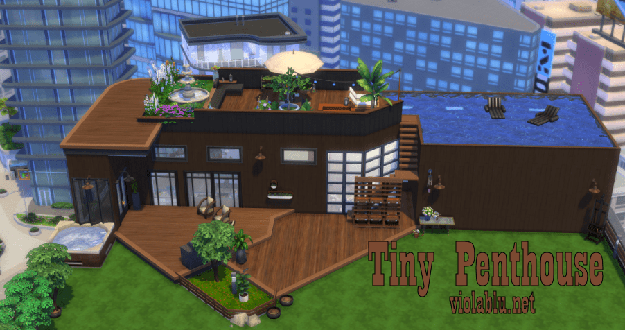 Tiny Penthouse for Sims 4