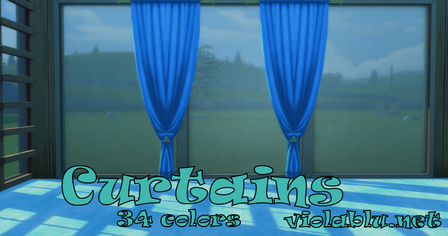 Left and Right Curtains for Sims 4