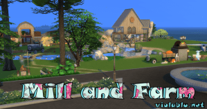 Hound's Head Mill and Farm for Sims 4