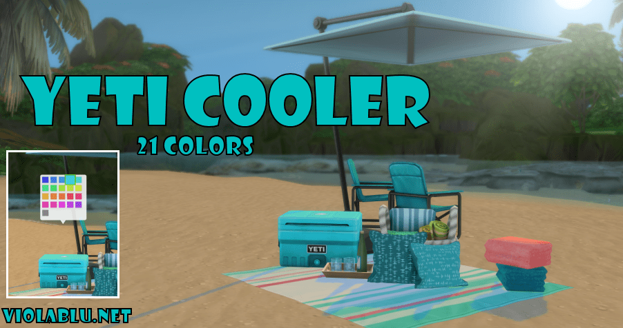 Yeti Coolers for Sims 4
