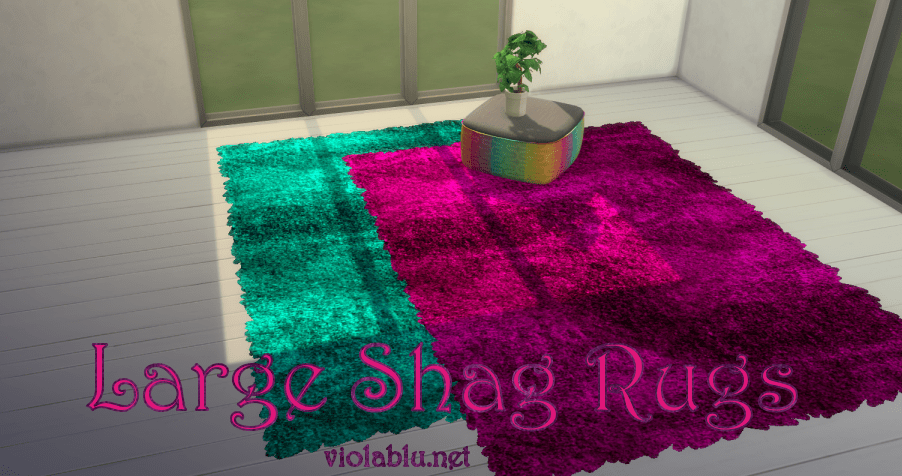Viola's Large Shag Rugs for Sims 4