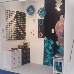 Viola Ceramics Studio stand during 100 % Design '18