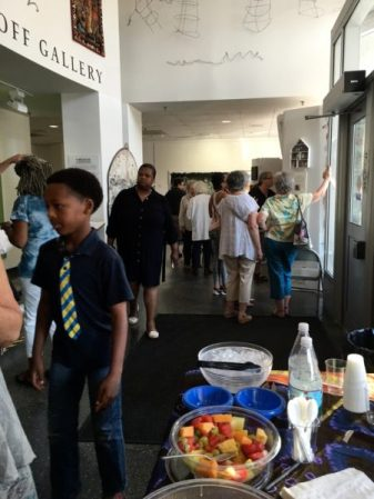 INSIDER/OUTSIDER NATION reception at Roxbury College's Resnikoff Gallery, Media Arts Center
