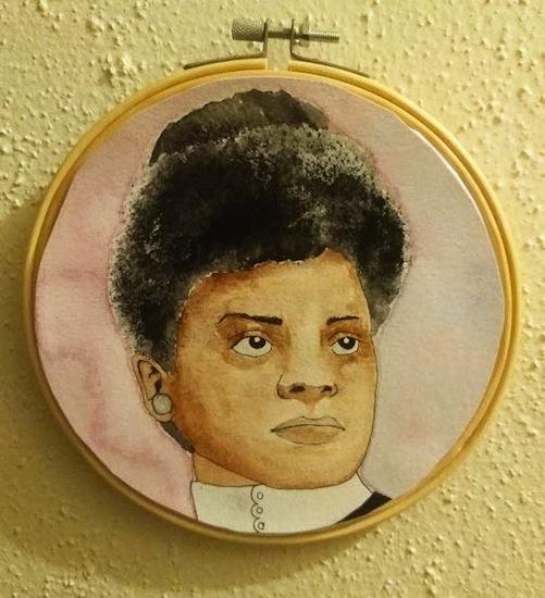 "Marissa Burns, IDA, Watercolor, 2020, 6"""