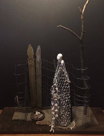 """Ruth Rosner, TO VOTE [As if It Could Save a Life] #1, Mixed-media sculpture, 56"""" x 56"""" x 15"""""""