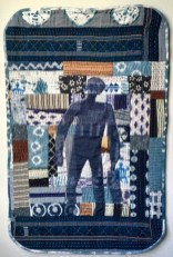 "Susan Thompson, ""Call of the Ancestors 1,"" Pieced quilt with applique, 54"" x 35"", 2017"